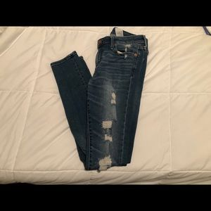 Skinny Distressed Jeans - SIZE 4 LONG